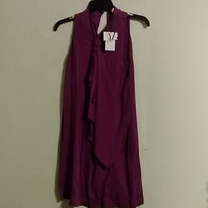 DVF purple long shirt dress NWT